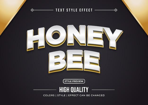 Effet De Texte Honey Bee Vecteur Premium