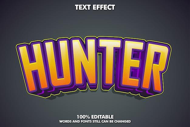 Effet De Texte Hunter, Style De Texte Tendance Pour Autocollant Vecteur gratuit
