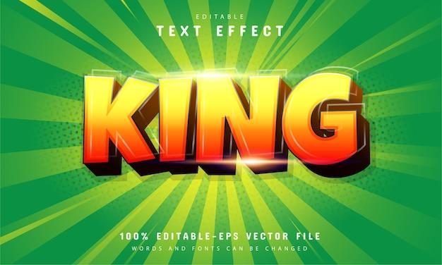 Effet De Texte King Avec Dégradé Orange Vecteur Premium