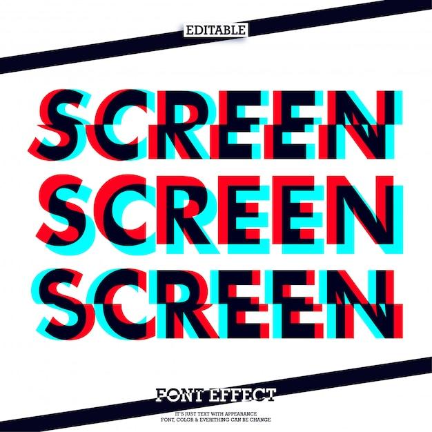 Effet de texte de mode d'écran Vecteur Premium
