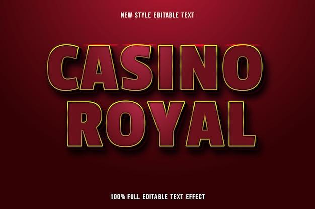 Effet De Texte Modifiable Casino Couleur Royale Or Rouge Et Noir Vecteur Premium
