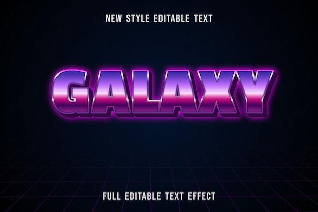 Effet De Texte Modifiable Couleur Galaxie Rose Et Violet Vecteur Premium