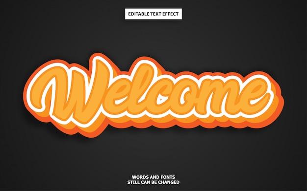 Effet De Texte Modifiable Graffiti Orange Vecteur Premium