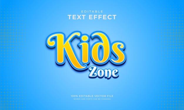Effet De Texte Modifiable Pour Enfants, Style Sympa Vecteur Premium