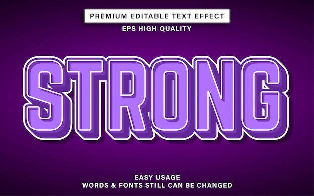 Effet De Texte Modifiable Puissant Vecteur Premium