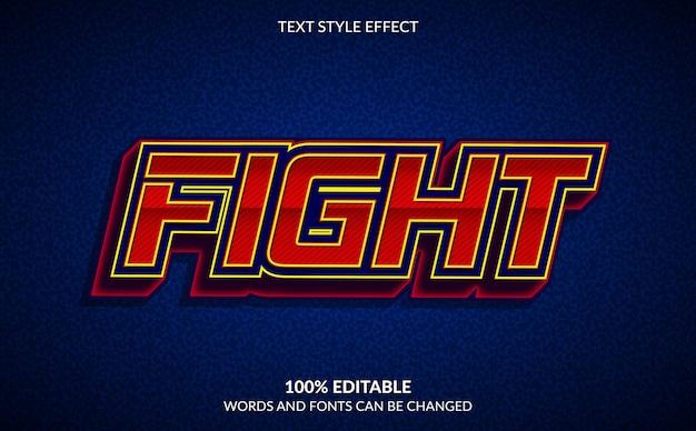 Effet De Texte Modifiable, Style De Texte De Combat Vecteur Premium