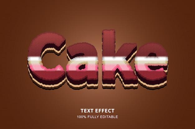 Effet De Texte De Style Gâteau 3d, Texte Modifiable Vecteur Premium