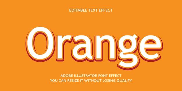 Effet De Texte Vectoriel éditable Orange Vecteur Premium