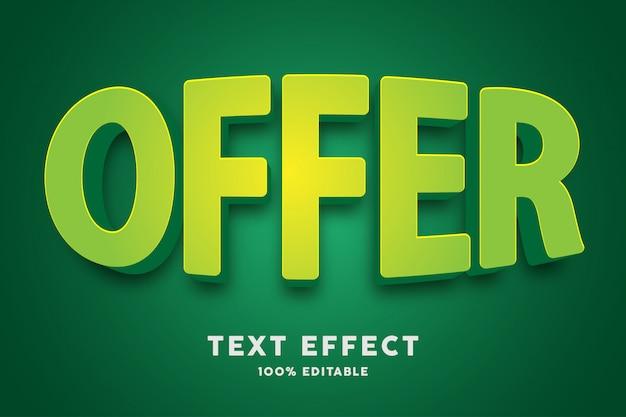 Effet De Texte Vert Bombé 3d Vecteur Premium