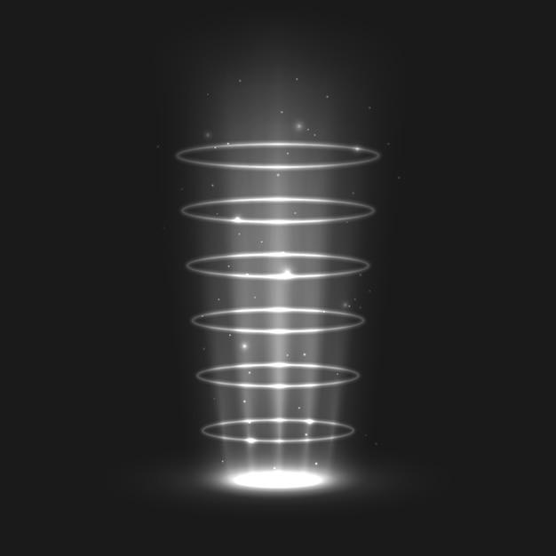 Effets De Lumière Magiques Vecteur Premium