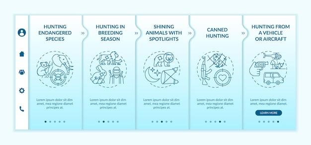 Effets Négatifs Des Illustrations Isolées De Modèle D'intégration De Chasse Vecteur Premium