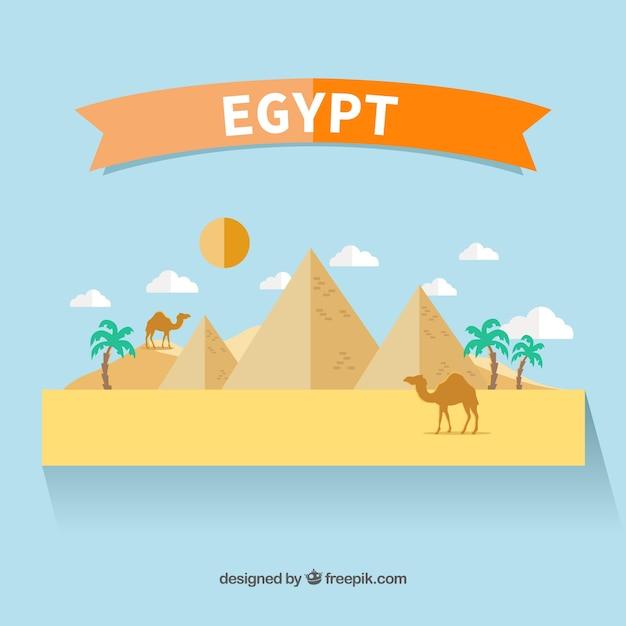 Egypte paysage design plat t l charger des vecteurs for Paysage design