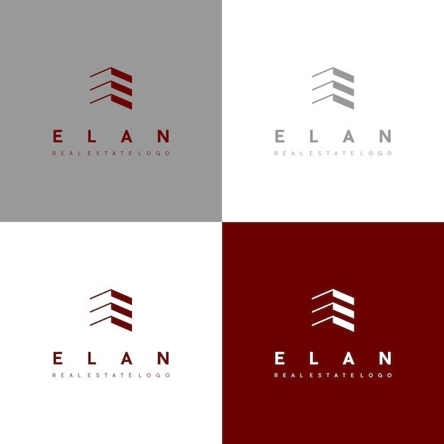 Elan Logo Vecteur Premium