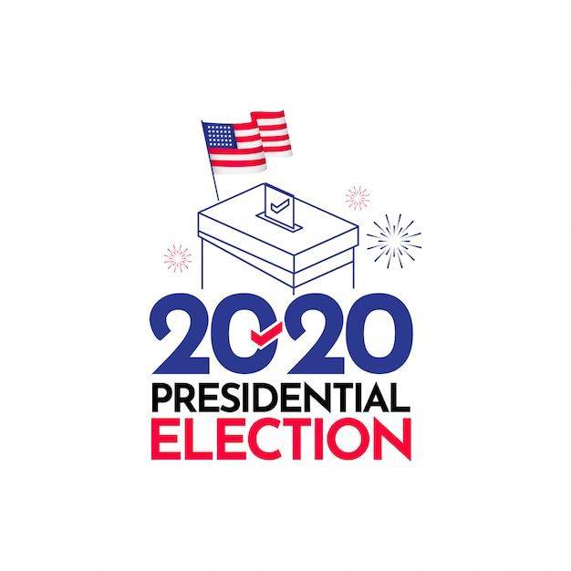 Élection Présidentielle 2020 états-unis Vector Template Design Illustration Vecteur Premium