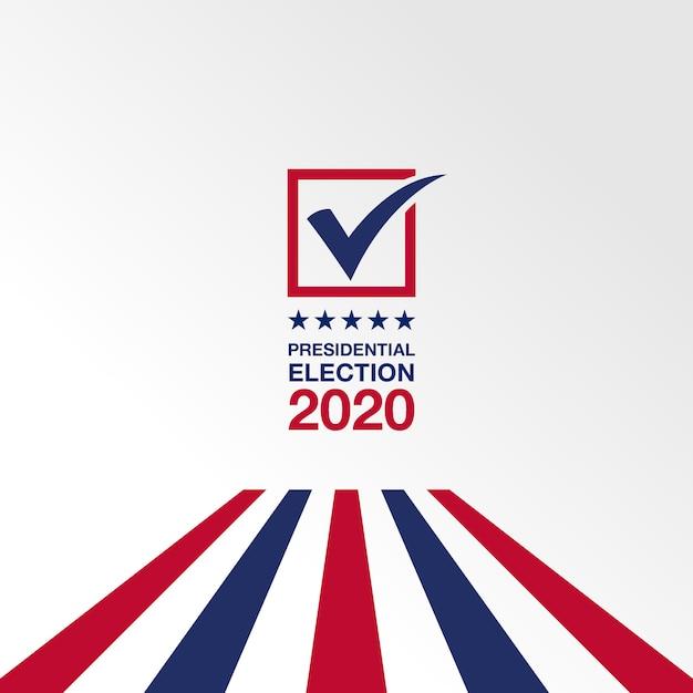 Élection Présidentielle 2020 Vecteur Premium