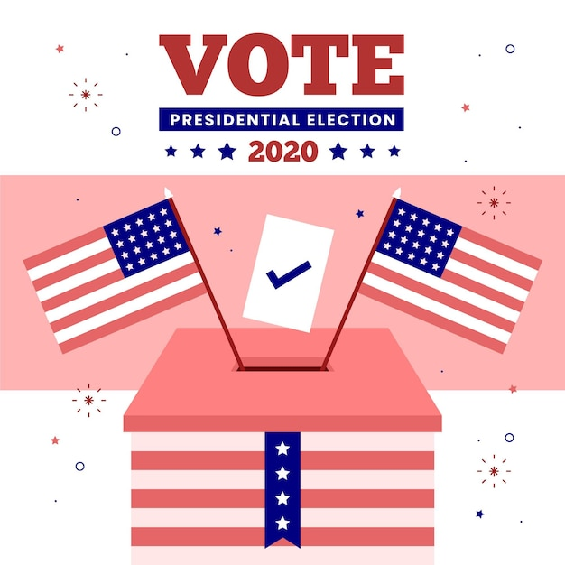 Élection Présidentielle Américaine 2020 - Concept Vecteur gratuit