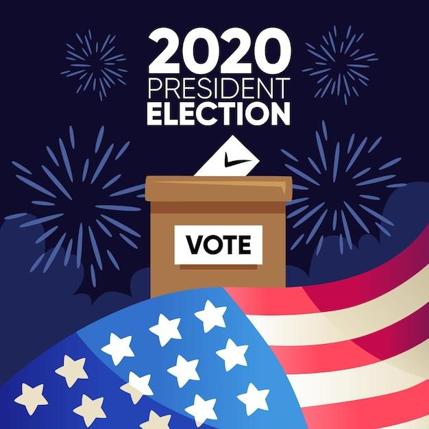 Élection Présidentielle Américaine 2020 Vecteur gratuit
