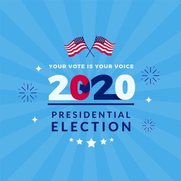 Élection Présidentielle Américaine 2020 Vecteur Premium