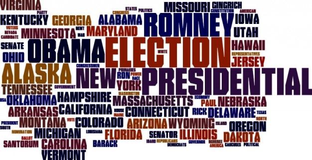 Élection présidentielle nuage de mots dans des tons bruns Vecteur gratuit
