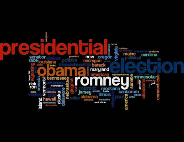 Élections présidentielles mots Vecteur gratuit