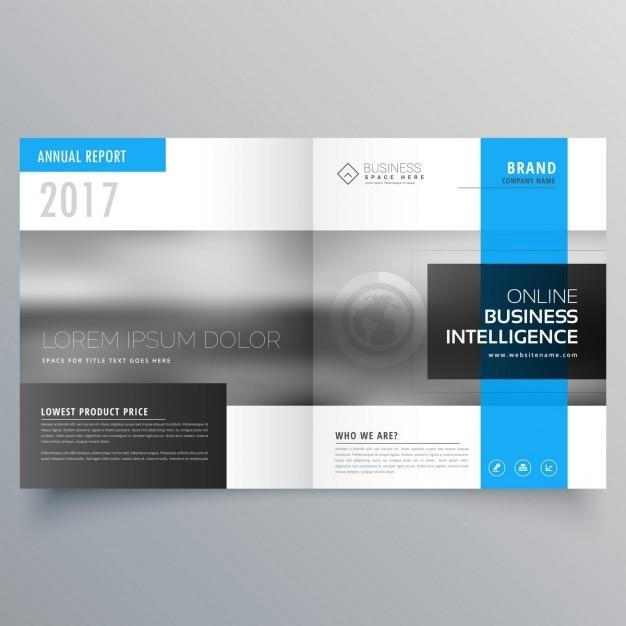 Élégant couverture de magazine modèle de page conception bifold conception de la brochure Vecteur gratuit