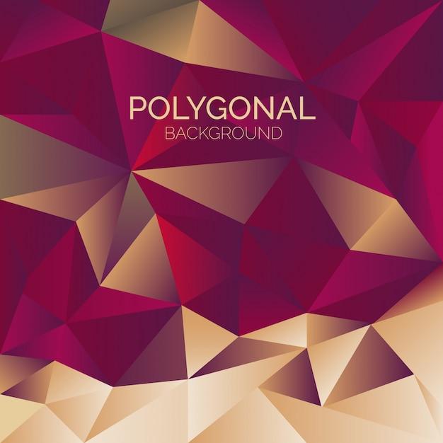 Élégant fond polygonal Vecteur gratuit