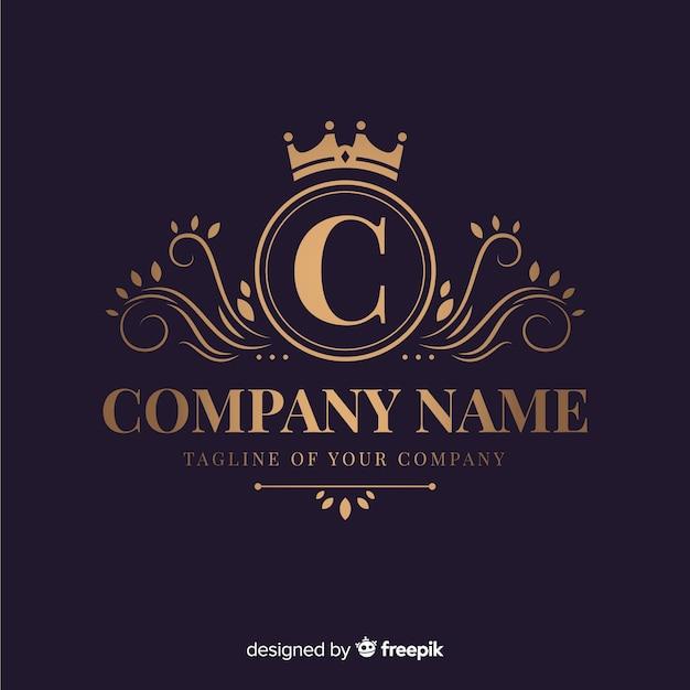 Elégant Logo Ornemental Pour Entreprise Vecteur Premium