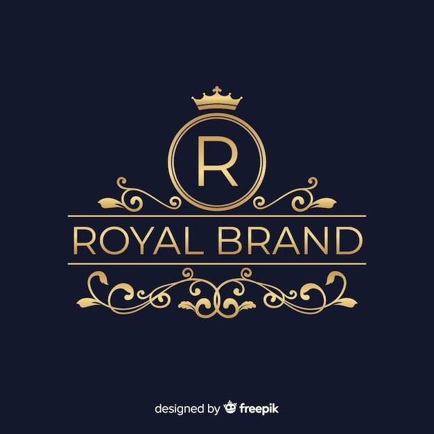 Elégant logo ornemental Vecteur gratuit