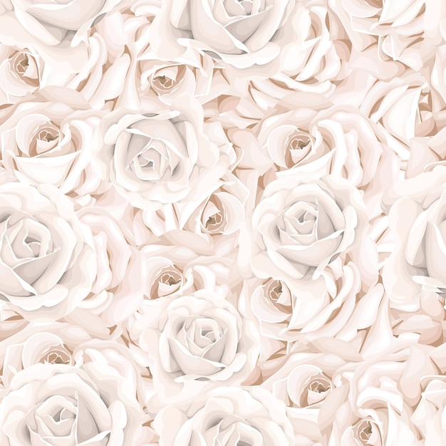 Élégant Motif Floral Sans Soudure Vecteur gratuit