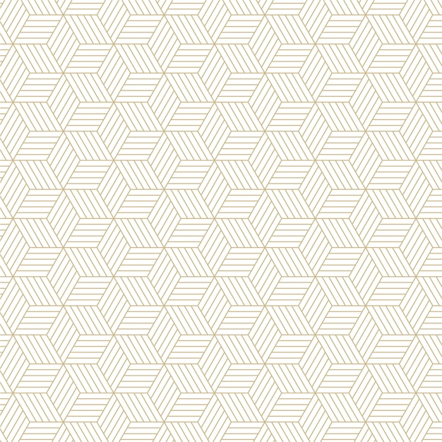 Élégant Motif De Lignes Hexagonales Vecteur Premium