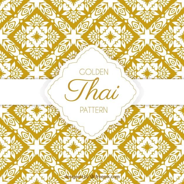 Élégant motif thai jaune Vecteur gratuit
