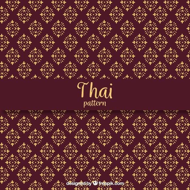 Élégant motif thaïlandais rouge foncé Vecteur gratuit