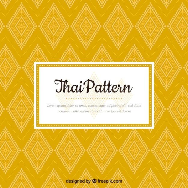 Élégant Motif Thaïlandais Avec Un Style Doré Vecteur gratuit