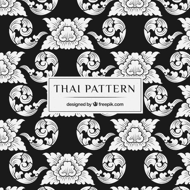 Élégant motif thaïlandais Vecteur gratuit