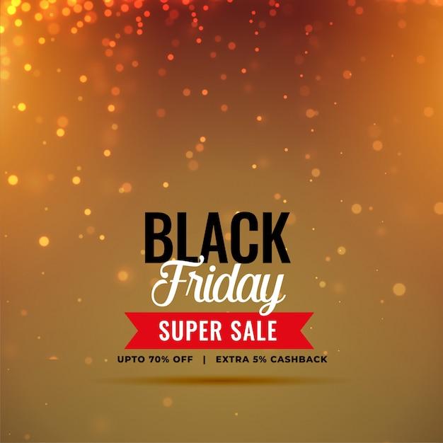 Élégant vendredi noir vente brille à fond Vecteur gratuit