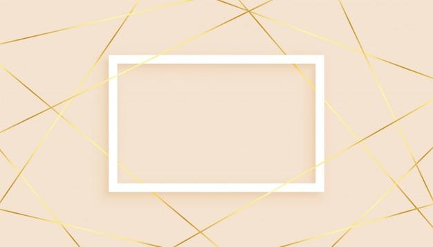 Élégantes Lignes Dorées Low Poly Abstrait Vecteur gratuit