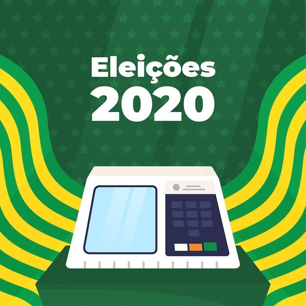 Eleições Pour Illustration Bazil Avec Drapeau Vecteur gratuit