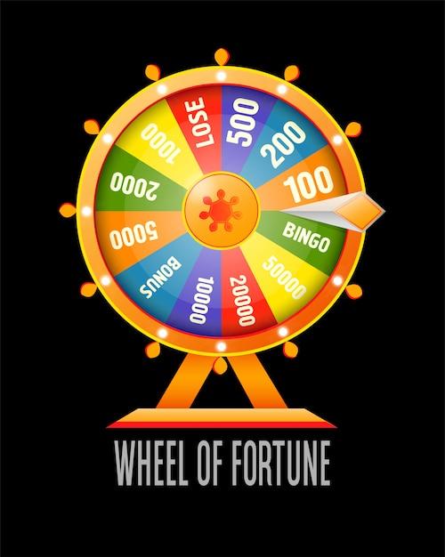 Élément de conception infographique roue de la fortune Vecteur Premium