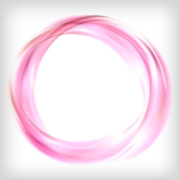 Élément de design abstrait en rose Vecteur gratuit