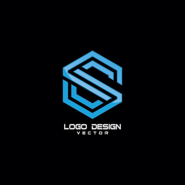 Élément de design lettre s symbole logo icon Vecteur Premium