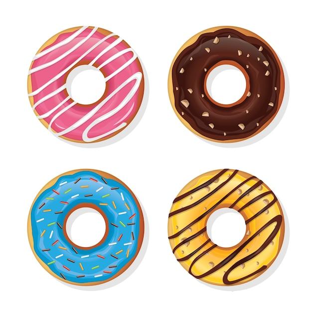 Élément De Donut Vecteur Premium
