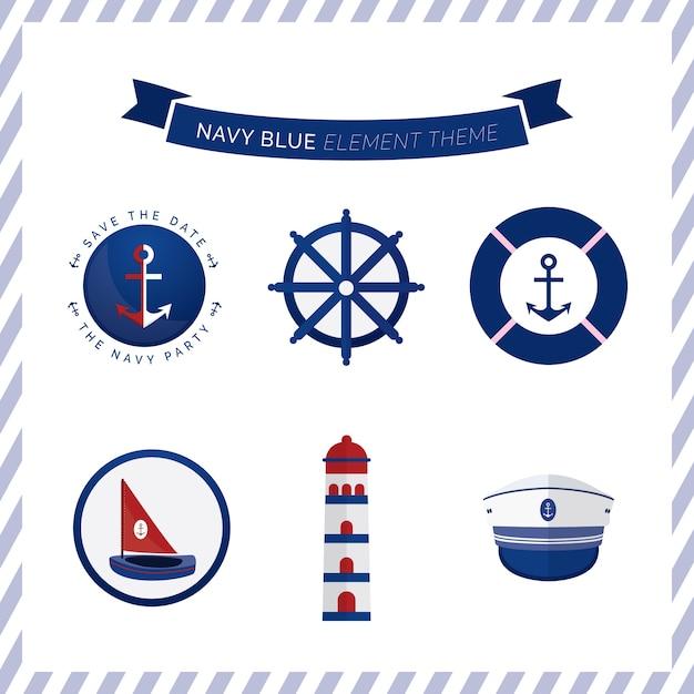 Bateau nautique ancre marin mer personnalisé enfants invitations anniversaire