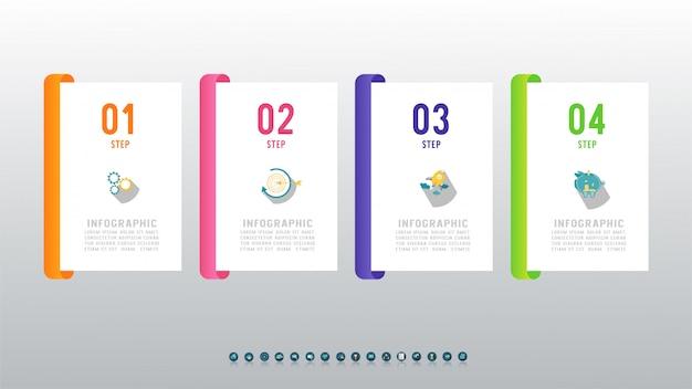 Élément De Graphique Infographie Modèle Business Design. Vecteur Premium