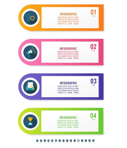 Élément De Graphique Infographique Modèle Métier. Vecteur Premium