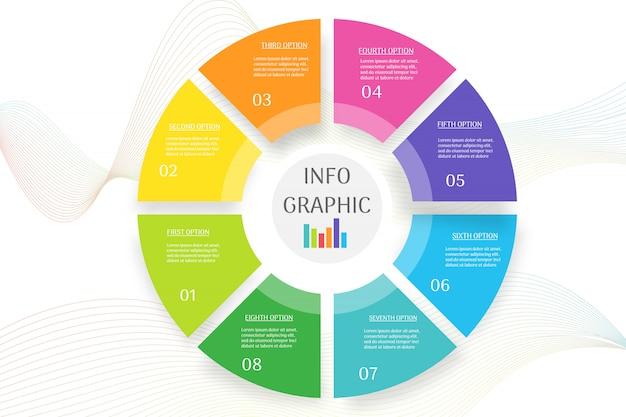 Élément de graphique modèle entreprise business design pour les présentations. Vecteur Premium