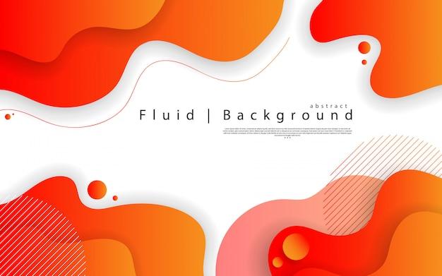 Élément graphique moderne abstrait. formes et vagues colorées dynamiques. gradient abstrait avec des formes liquides qui coule. Vecteur Premium