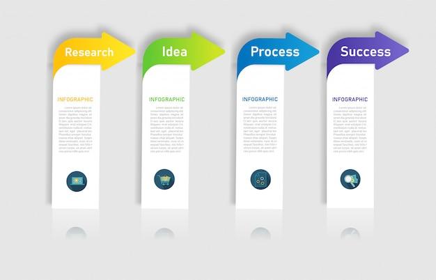 Élément de graphique options de conception business modèle options. Vecteur Premium