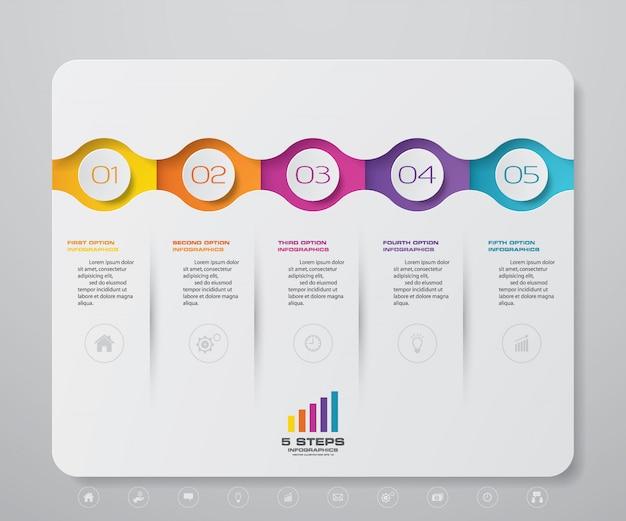 Élément D'infographie Graphique Moderne Vecteur Premium