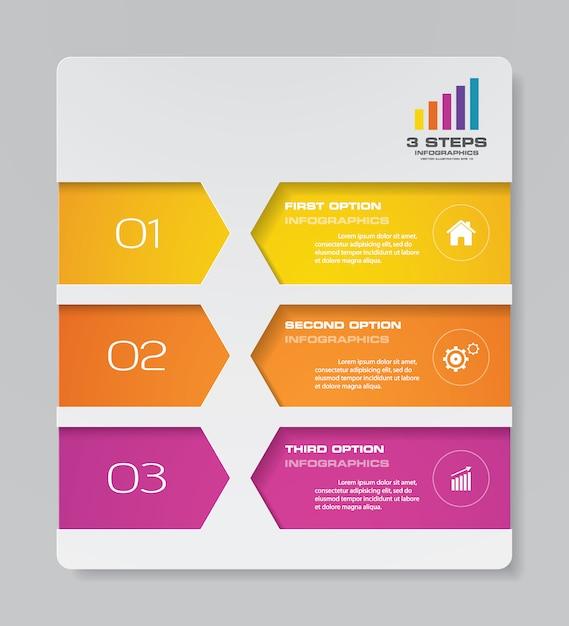 Élément d'infographie graphique de présentation. Vecteur Premium