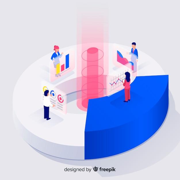 Élément d'infographie en style isométrique Vecteur gratuit